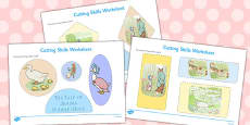 The Tale of Jemima Puddle-Duck Cutting Skills Worksheet (Beatrix Potter)