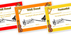 Orchestra Certificates