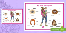 * NEW * Mother's Day Description Word Mat