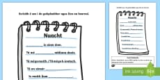 * NEW * ROI News (Nuacht) Writing Activity Sheet Gaeilge