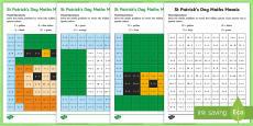 St Patrick's Day Mixed Operation Mosaic Activity Sheets