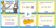Year 2 Multiplication and Division Warm-Up PowerPoint