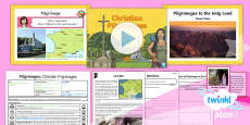 PlanIt - RE Year 4 - Pilgrimages Lesson 2:  Christian Pilgrimages Lesson Pack