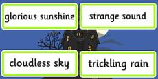 Setting Describing Word Cards