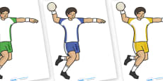 The Olympics Editable Images Handball