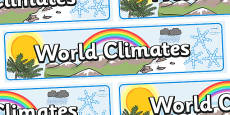 World Climates Display Banner