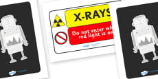 Toy Hospital X Ray Display Signs