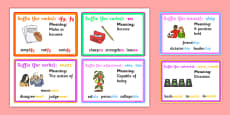 Suffix Cards With Definitions