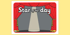 Star of the Day Stage Poster