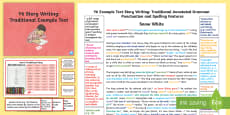 Y6 Story Writing: Traditional Model/Example Text