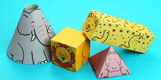Animal Themed 3D Shape Nets