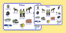 Police Word Mat