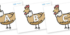 A-Z Alphabet on French Hens