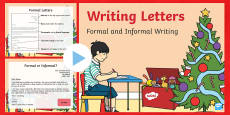 Formal and Informal Christmas Letters PowerPoint