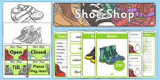 Shoe Shop Role Play Pack