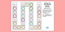 Telling the Time Board Game KS1 O'clock and Half Past Mandarin Chinese Translation