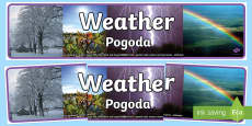 * NEW * Weather Photo Display Banner English/Polish