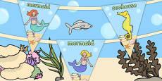 Mermaid Themed Bunting
