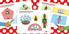 The Nutcracker Cutting Skills Activity Sheet