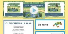 * NEW * Cu Cu Cantaba La Rana Nursery Rhyme