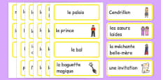 Cartes de vocabulaire : Cendrillon
