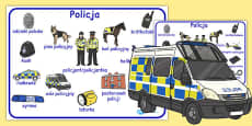 Police Word Mat Polish