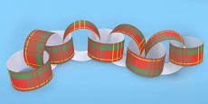 Tartan Paper Chain