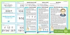KS1 World Braille Day Activity Pack
