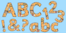 Ancient Olympics Display Letters and Numbers Pack