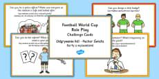 Football World Cup Stadium Role Play Challenge Cards Polish Translation
