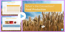 * NEW * Food Production What's the Connection? PowerPoint