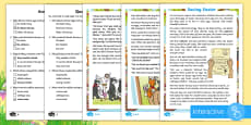 * NEW * KS1 Saving Easter Differentiated Comprehension Go Respond Activity Sheets