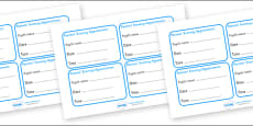 Parents' Evening Appointment Cards