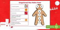 Gingerbread Man Number Game
