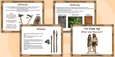 Stone Age Food Lesson Flipchart