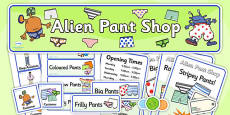 Pant Shop Role Play Pack to Support Teaching on Aliens Love Underpants