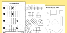 Calculate the Area Activity Sheets