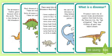 Dinosaur Facts Display Posters