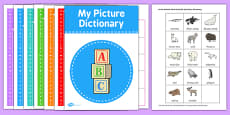 Arctic Animals Picture Dictionary and Word Cards