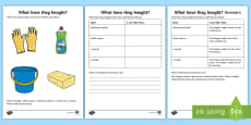 * NEW * What Have they Bought? (7) Making Inferences Activity