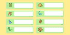 Cute Dinosaur Themed Editable Gratnells Tray Labels