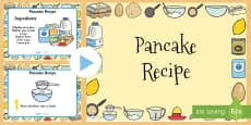 Pancake Recipe PowerPoint