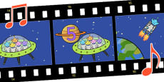 Five Little Men in a Flying Saucer Sing Along Video