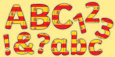 Spanish Display Lettering Flags