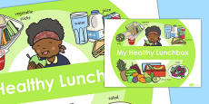 A Healthy Lunchbox Poster