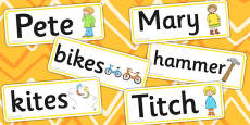 Word Cards to Support Teaching on Titch