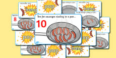 10 Fat Sausages Visual Aids