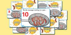 10 Fat Sausages Visual Aids