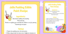 Jello Pudding Edible Paint Recipe