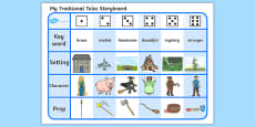 Traditional Tales Storyboard Activity Sheet